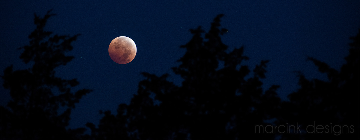 The Blood Moon in October 2014.