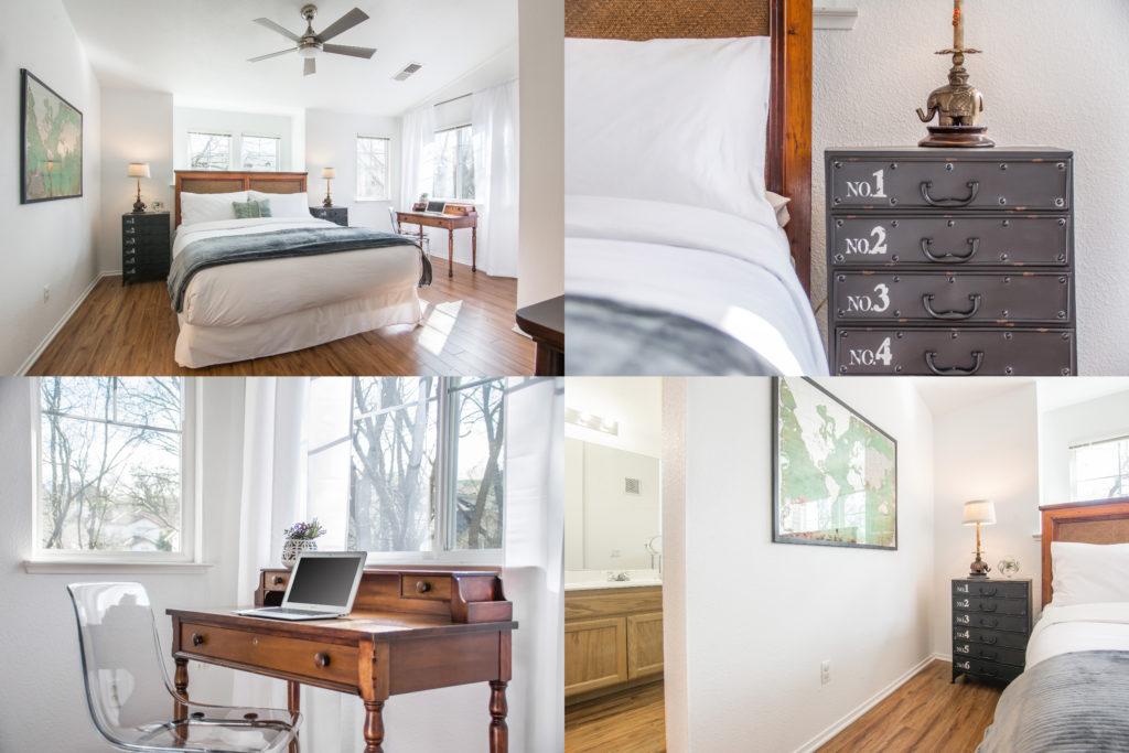 The master bedroom at Gina's San Ramon vacation rental