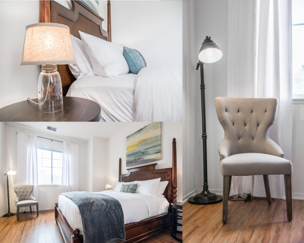 The guest bedroom at Gina's San Ramon vacation rental