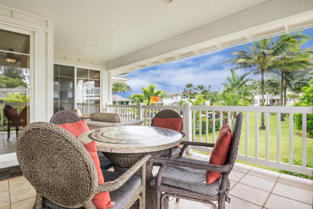 Princeville vacation rental, North Shore, Kauai - lanai