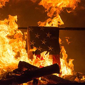 Boy Scout flag retirement ceremony, November 10, 2014.