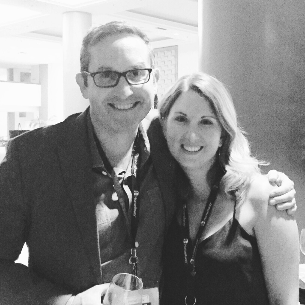 Tom Hale and Tyann Marcink at the Los Angeles HomeAway Summit