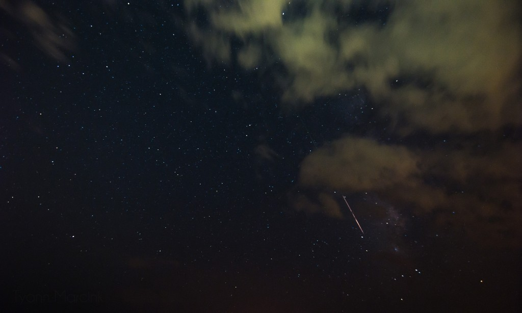 This meteor was blazing  fast and was amazing to watch as it burned up.