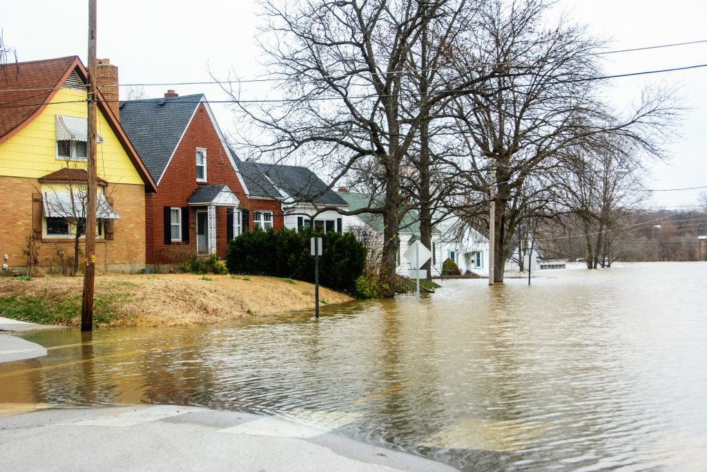 The Bourbeuse River invades the homes off East Main Street.