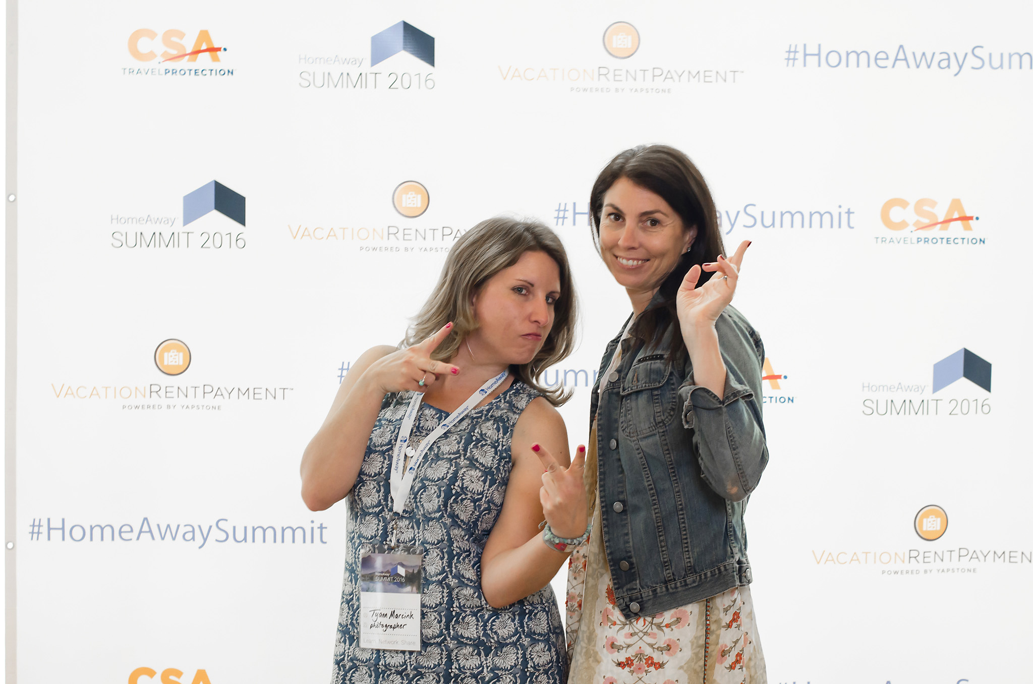 With Alanna Schroeder of The Distinguished Guest at the HomeAway Summit - Austin 2016