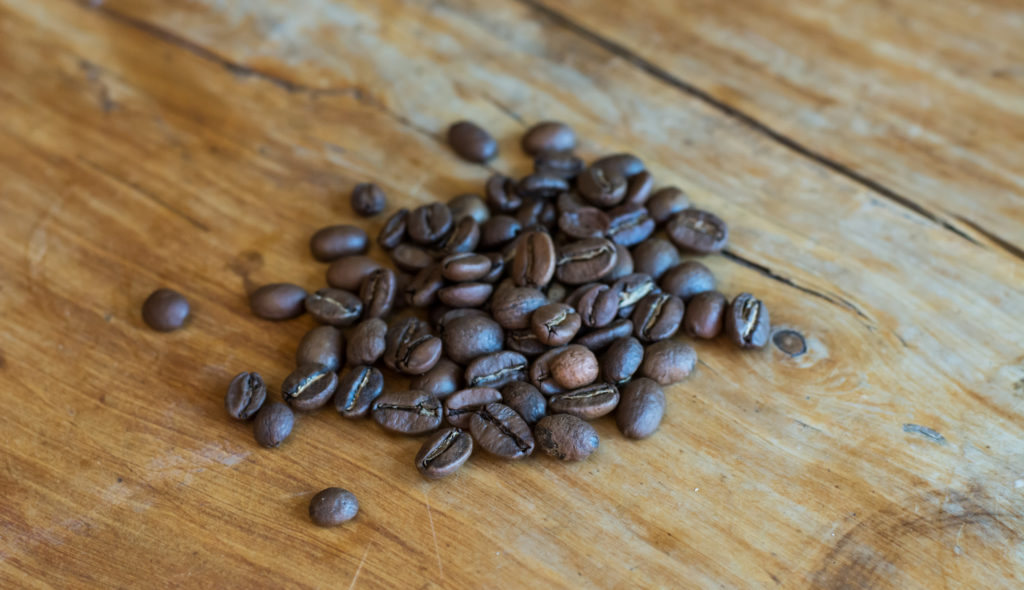Coffee beans at Swell Coffee Cafe, Mission Beach, San Diego, California
