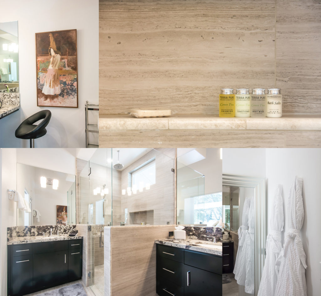 The master bath at Creekside Cottage - photos by Tyann Marcink