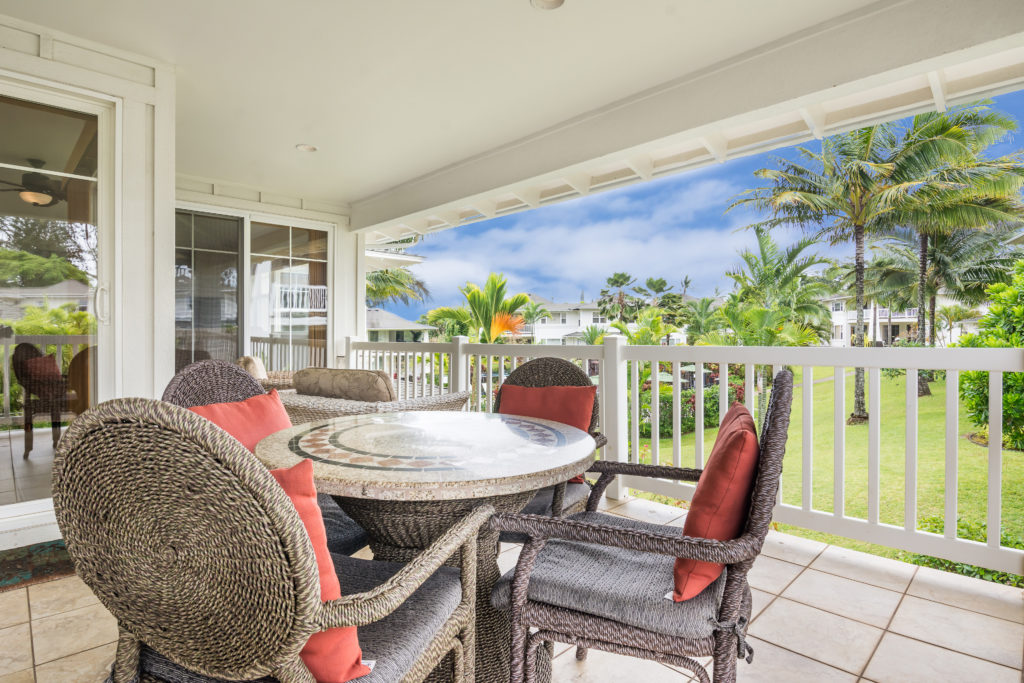 Princeville vacation rental, North Shore, Kauai - lanai