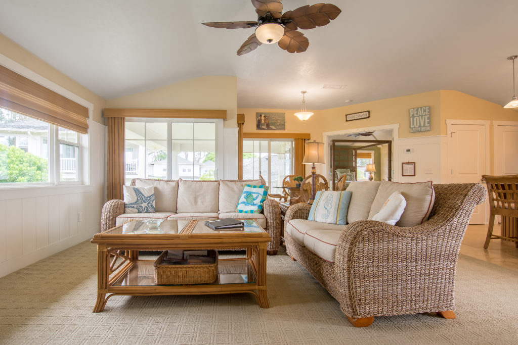 Princeville vacation rental, North Shore, Kauai - living area