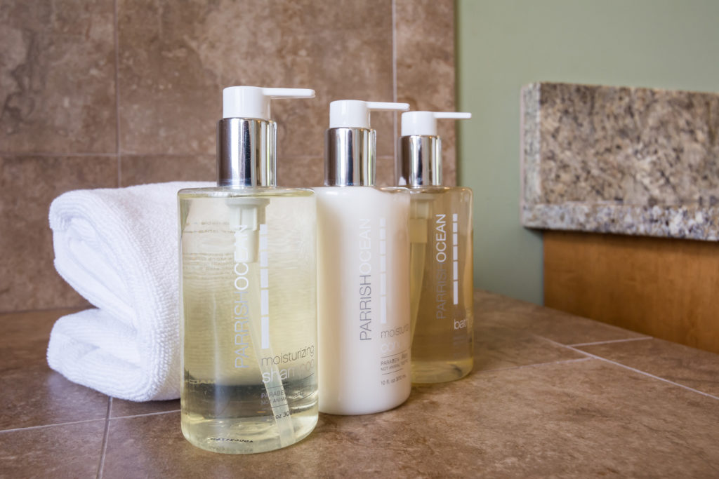 Princeville vacation rental, North Shore, Kauai - master bath amenities