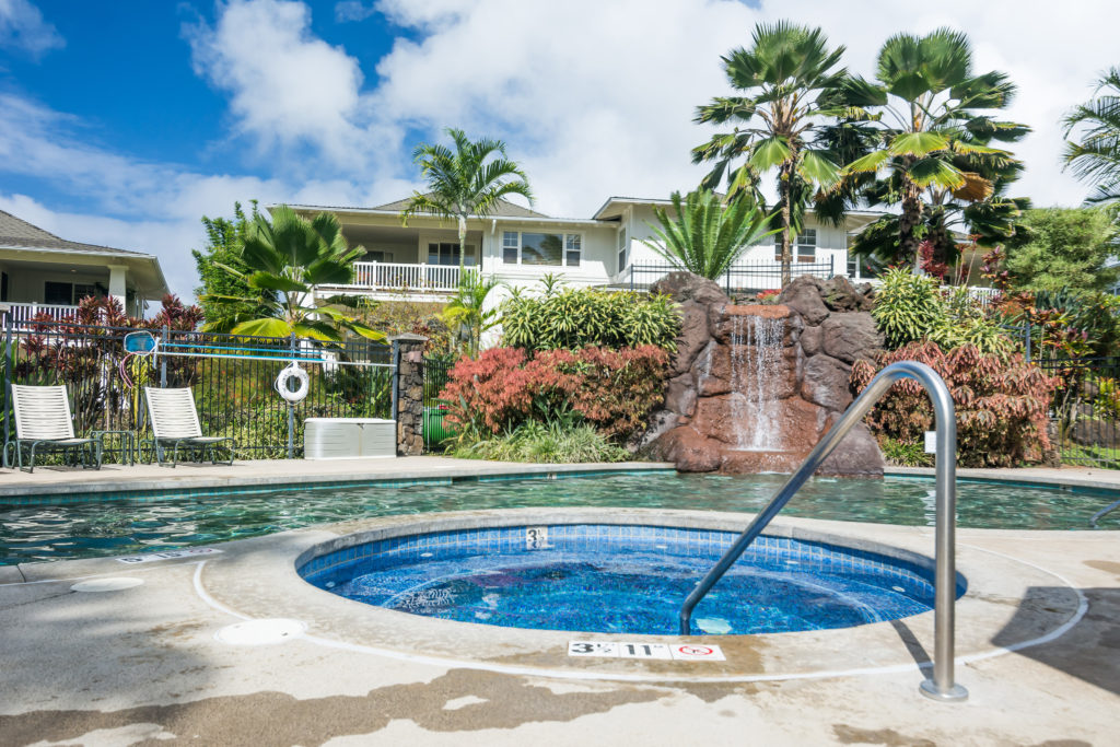 Princeville vacation rental, North Shore, Kauai - neighborhood swimming pool and hot tub